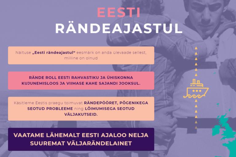"""Laagri Koolis näitus """"Eesti rändeajastul"""""""